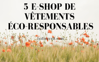 5 e-shop de vêtements éco-responsables