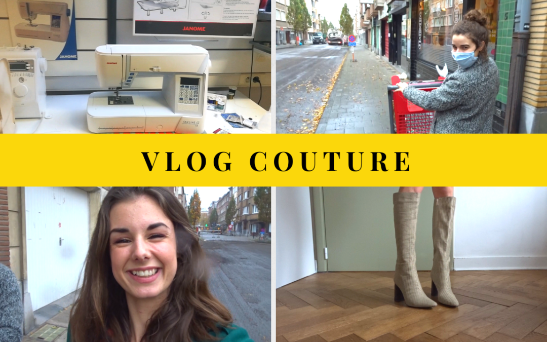 VLOG COUTURE (22 & 23 octobre): nouvelle machine à coudre & adoption d'un caddie